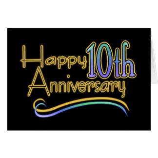 10ème anniversaire heureux carte de vœux