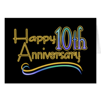 10ème anniversaire heureux cartes