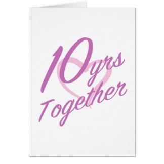 10ème anniversaire mignon cartes