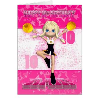 10ème Carte de voeux de pom-pom girl