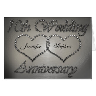 10ème carte perforée d anniversaire de mariage de