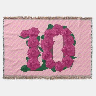 10ème couverture d'anniversaire de 10 de rose