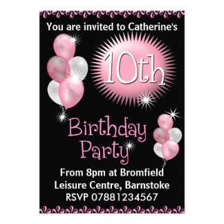 10ème Invitation de fête d'anniversaire