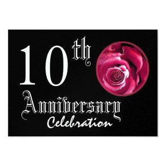 10ème Métallique de la meilleure qualité de rose Carton D'invitation 12,7 Cm X 17,78 Cm