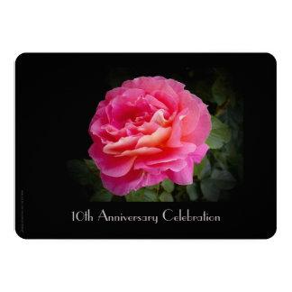 10ème Rose simple de rose d'invitation de fête Carton D'invitation 12,7 Cm X 17,78 Cm