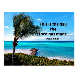 118:24 de psaume c'est le jour où le seigneur a carte postale