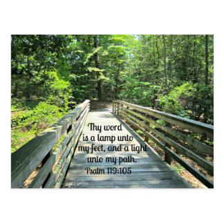 119:105 de psaume Thy mot est une lampe… Carte Postale