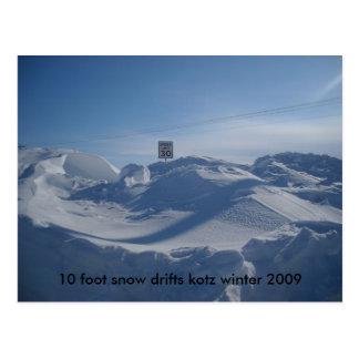 119, neige de 10 pieds dérive l'hiver 2009 de kotz carte postale