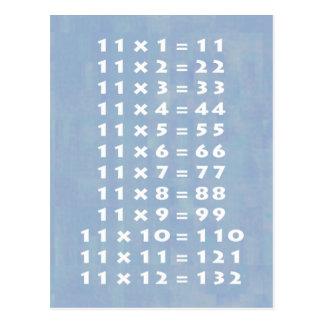 cartes postales multiplication table personnalis 233 es zazzle fr