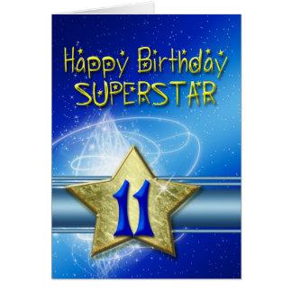 11ème Carte d'anniversaire pour le superstar