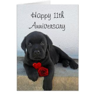 11ème carte heureuse de chiot de Labrador