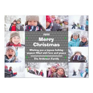 12 carte du Joyeux Noël Collage-6x8Christmas de