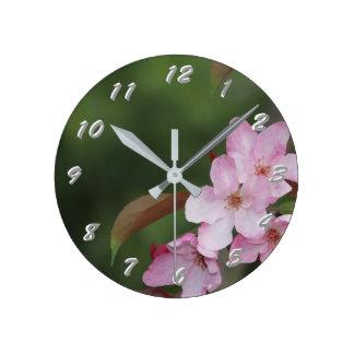 12 choix de nombre à choisir de la fleur rose horloge ronde