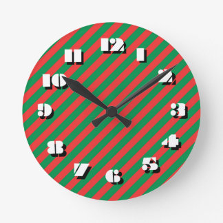12 choix de nombre pour choisir - la horloge ronde