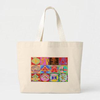 12 conceptions de guérison de Reiki n Karuna Reiki Grand Tote Bag