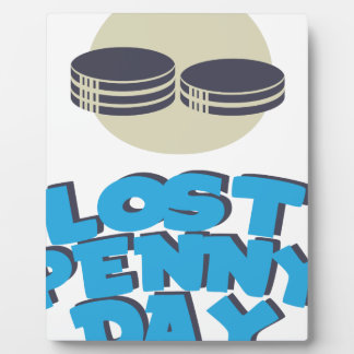 12 février - jour perdu de penny - jour photo sur plaque