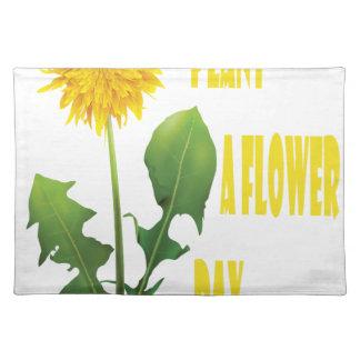 12 mars - plantez un jour de fleur sets de table