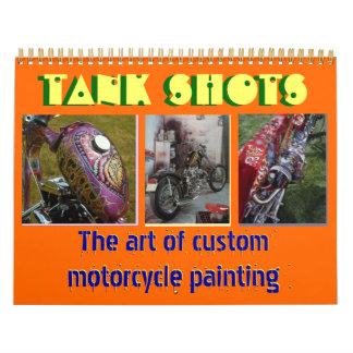 12 mois 2013 de moto de coutume peignant le Midi Calendriers Muraux