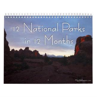 12 parcs nationaux en 12 mois, 5ème édition calendriers muraux