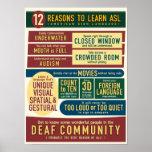 12 raisons d'apprendre l'ASL. affiche