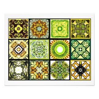 12 tuiles différentes de sachet à thé - se plier prospectus 11,4 cm x 14,2 cm
