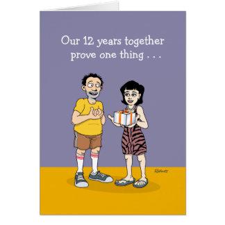 12ème Carte d'anniversaire de mariage : Amour