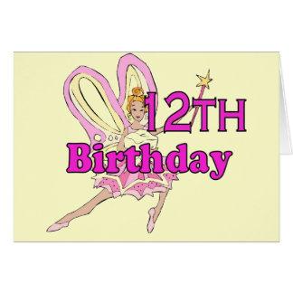 12ème douzième carte d'anniversaire de princesse