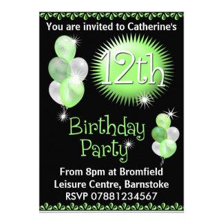 12ème Invitation de fête d'anniversaire