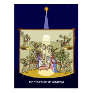 12ème Jour de carte postale de Noël (12 batteurs)