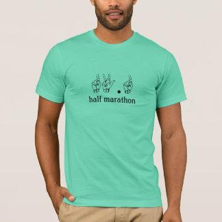 13,1, demi de langue des signes de marathon t-shirt