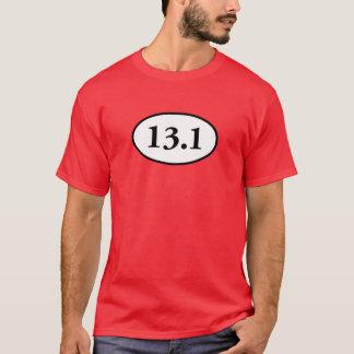 13,1 demi d'ovale de marathon t-shirt