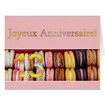 13ème Anniversaire français Macaron-Joyeux Carte