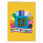 13ème Cadeaux d'anniversaire avec la conception as Carte De Vœux