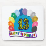 13ème Cadeaux d'anniversaire avec la conception as Tapis De Souris