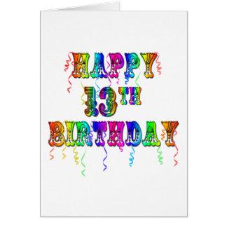 13ème Cadeaux d'anniversaire avec la police de Carte De Vœux