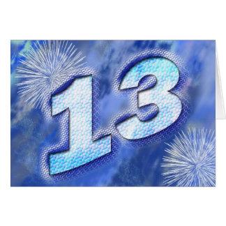 13ème carte d'anniversaire