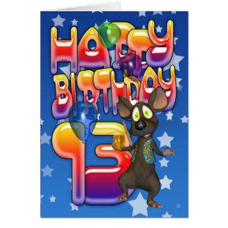 13ème Carte d'anniversaire, joyeux anniversaire