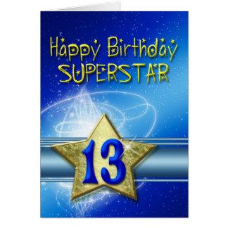 13ème Carte d'anniversaire pour le superstar