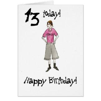 13ème Carte d'anniversaire pour un garçon