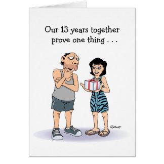 13ème Carte d'anniversaire : Type chanceux