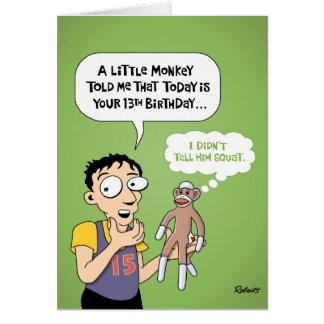 13ème carte de voeux drôle d'anniversaire