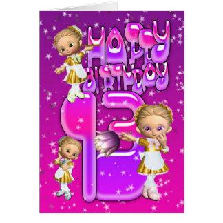 13ème Domestiques mignonnes de scintillement de Carte De Vœux