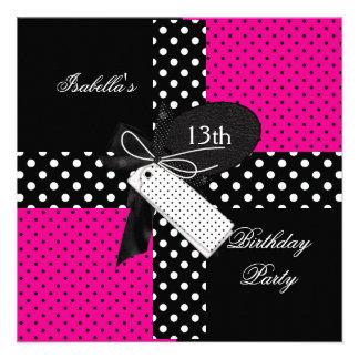 13ème Filles d'adolescent de fête d'anniversaire Invitation Personnalisable