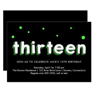 13ème Invitation d'anniversaire, lettres
