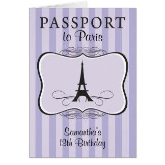 13ème Invitation de passeport de Paris