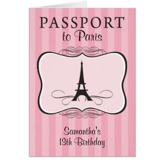 13ème Invitation de passeport de Paris Cartes De Vœux