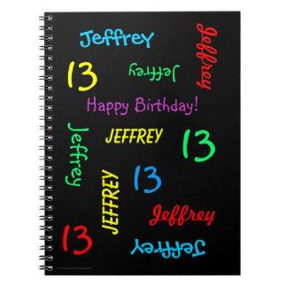 13ème Le livre d'invité de fête d'anniversaire,