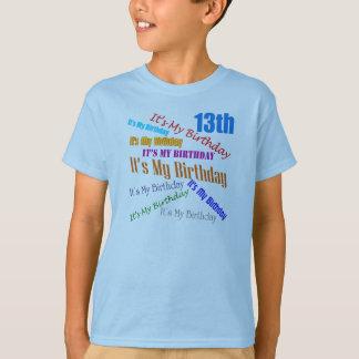 13ème T-shirt de cadeaux d'anniversaire