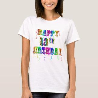 13ème T-shirt de police de cirque d'anniversaire