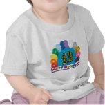 13ème T-shirt de voûte de ballon d'anniversaire